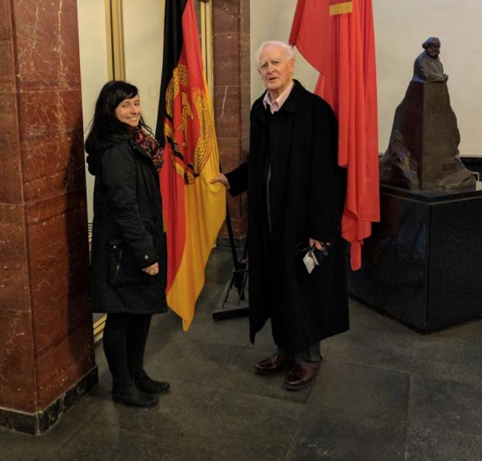 Anke Ertner with John le Carre!